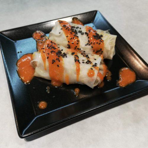 spring rolls, rice paper rolls